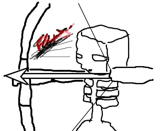 esqueleto minecraft desenho de foxzythief gartic