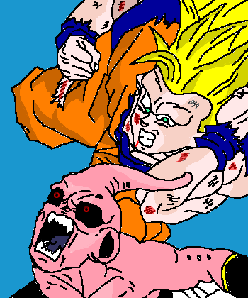 goku ssj3 vs kid boo