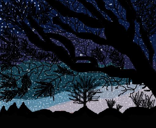 Noite Estrelada Desenho De Girl Mystic Gartic