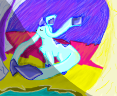 Glaceon in the paradise