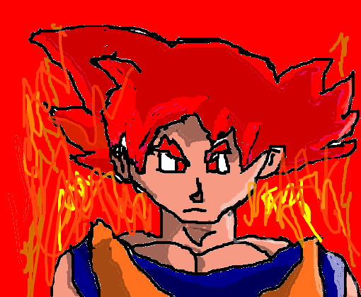 goku super sayajin god(editado)