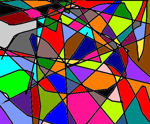 mosaico abstrato colorido desenho de gorgonzolacoisada gartic