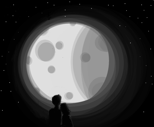 Contemple a lua cheia - Desenho de gryffindorgas - Gartic