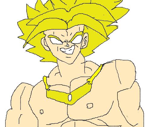 broly lendario super saiyajin desenho de gustavo pgame gartic