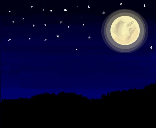 Desenho De Boa Noite: Desenho De Hallsdetangerina