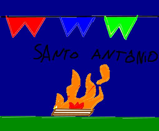 13 De Junho De 2016 Santo Antonio Fogueira Quadrada Desenho De