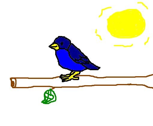 passarinho azul 3 desenho de heyllowgdn gartic