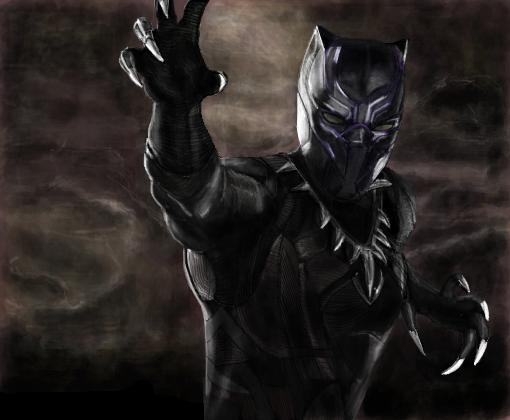 pantera negra desenho de hiiuga gartic