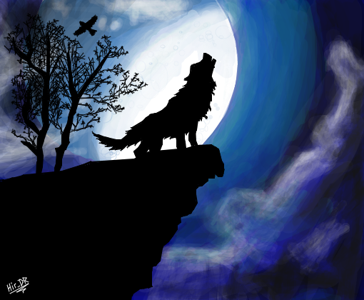 o uivo da lua para hareap desenho de hirdr gartic
