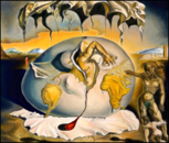 Geopoliticus Child Watching The Birth Of The New Man (Salvador Dali)