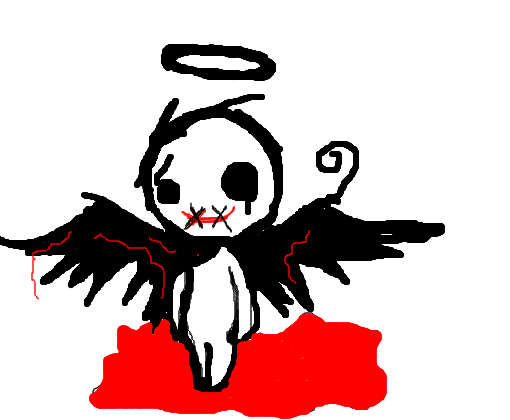 Anjo Caido Pela Morte 3 Desenho De Itz Kazuto Lok1h Gartic