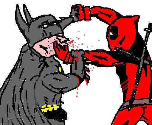 batman vs deadpool desenho de jjmolotov gartic