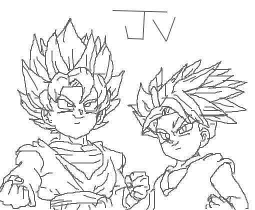 Dibujos Para Colorear De Dragon Ball Z Gohan Ssj2 Ideas: Desenho De Joaovictorrs