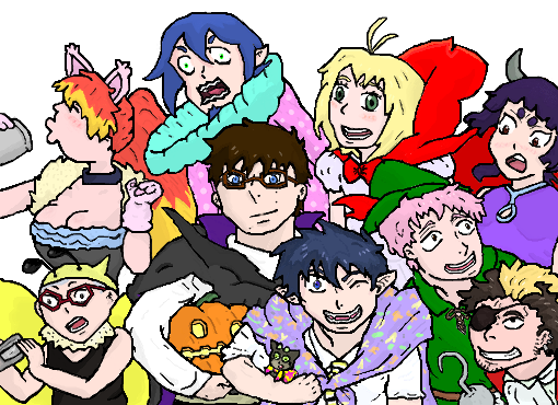 Ao no Exorcist-Costume Party