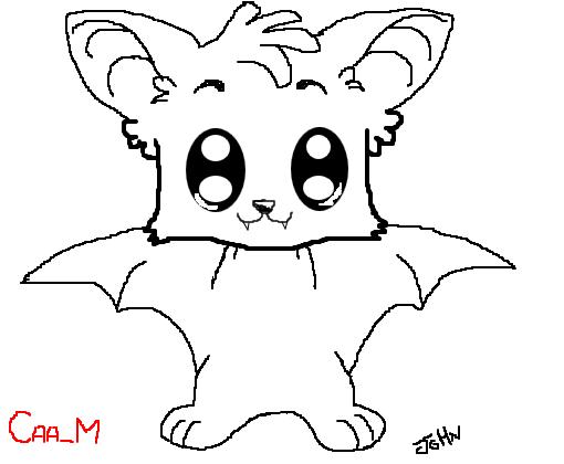 morcego desenho de john mustang gartic