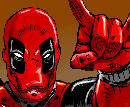 deadpool - desenho de julianag
