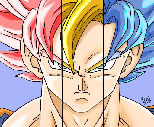 Son Goku Dragon Ball Super P Laymedeiros Desenho De