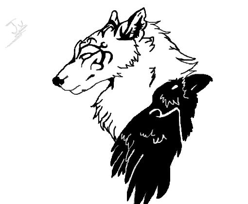Lobo|Corvo - Desenho de juubsdite - Gartic