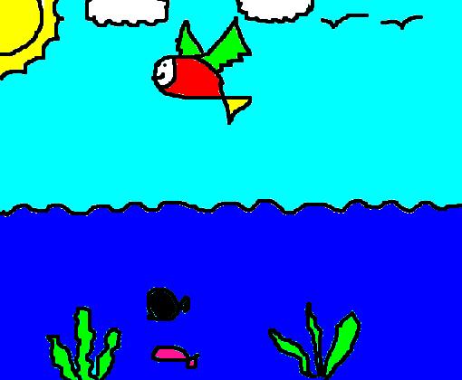 Peixinho Colorido Desenho De Klbwarface Gartic