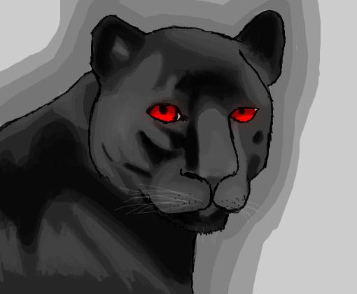 pantera negra de nv desenho de kurayaminosenritsu gartic