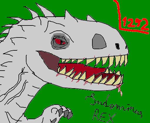 indominus rex jurassic world desenho de l1252 gartic