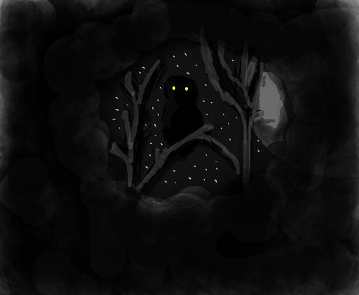 Noite Sombria Desenho De Lavinia Vilela Gartic