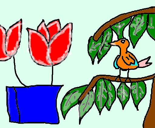 Passaro Colorido Desenho De Lecticia Gartic