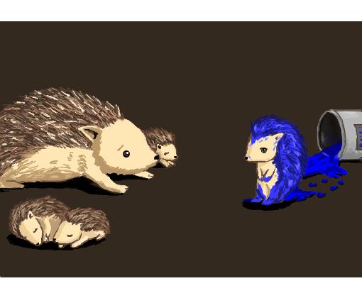 Sonic O Porco Espinho Ourio Azul Desenho De Leezy Gartic