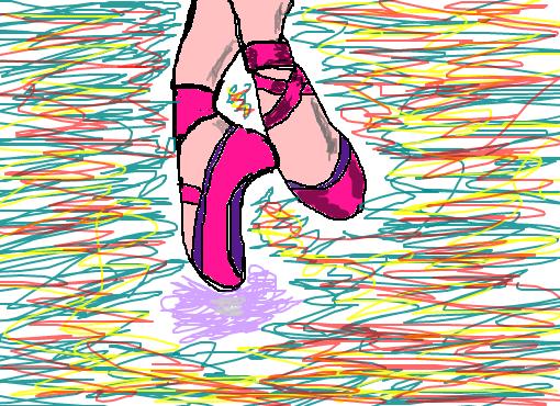 sapatilha de bailarina desenho de leti00 gartic