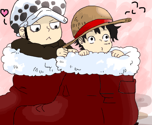 Law And Luffy Chibi