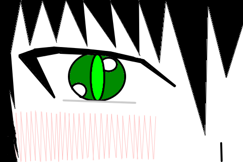 Olho De Anime Desenho De Lobo21 Gartic