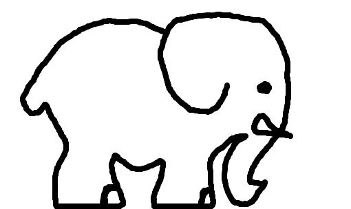 elefante desenho de loirinhaaaaa gartic