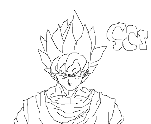 Lujo Imagenes Para Colorear De Goku Fase 4: Goku Fase 5 Para Colorear