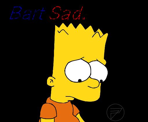 Bart Sad Triste Desenho De Lost Forever Gartic