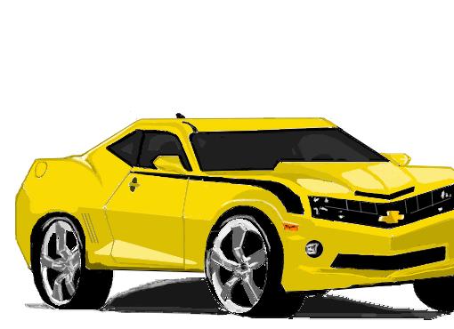 camaro amarelo desenho de lovemoooh gartic