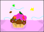 Cupcake in autumn.