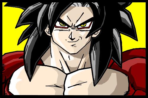 Goku ssj 4 - Desenho de luiiis - Gartic