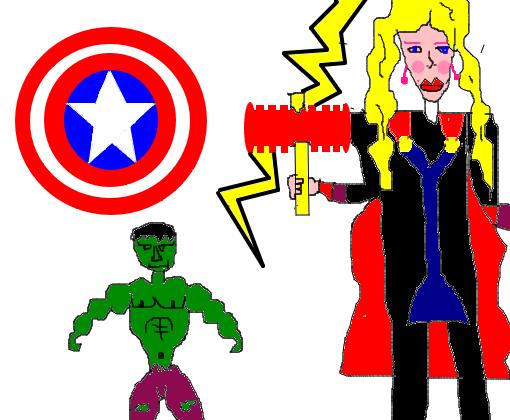 Os Vingadores Desenho De Lukoy Gartic