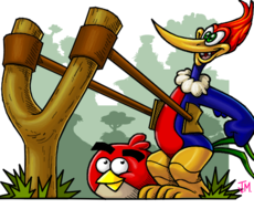 Woody Woodpecker and Red