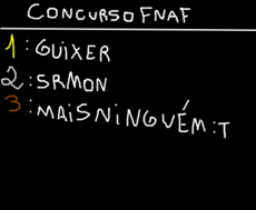 Resualtado do concurso Fnaf