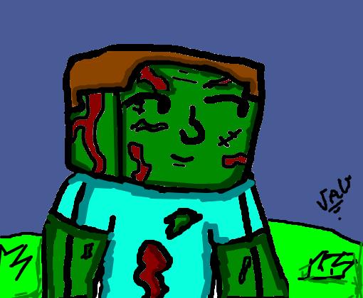 zumbi minecraft desenho de maderaotirrah gartic