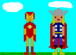 Iron-Man & Thor. Pixel Art.