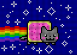 Nyan Cat. Pixel Art.