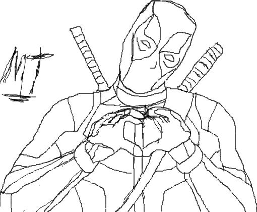 Deadpool Para Colorear Imagenes De Deadpool Para Colorear: Desenho De Matheusrapper