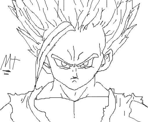 Dragon Ball Z Para Colorir Gohan Super Ssj 2: Desenho De Matheusrapper