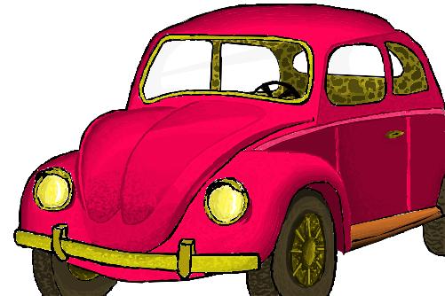 Desenho De Fusca: Fusquinha Rosa. *-*