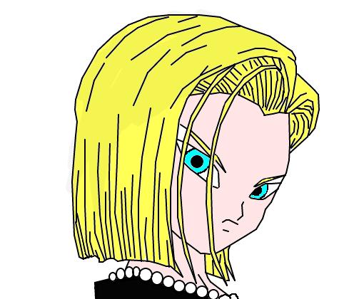 androide 18 - desenho de mazii