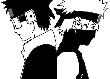 Obito e Kakashi - Desenho de mazii - Gartic