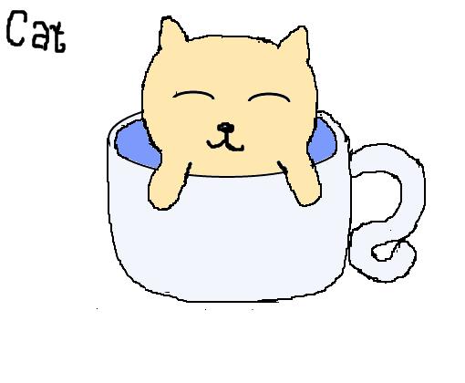 gatinho fofo desenho de mel goe gartic