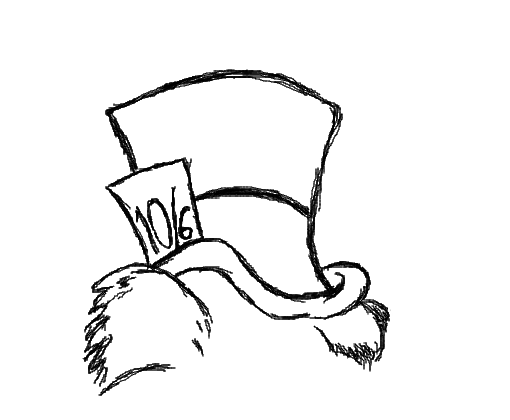 Mad Hatter Drawing
